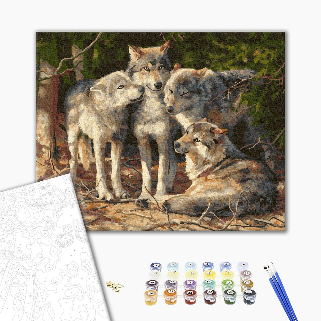 Картина по номерам Животные, птицы и рыбы - Вовча зграя