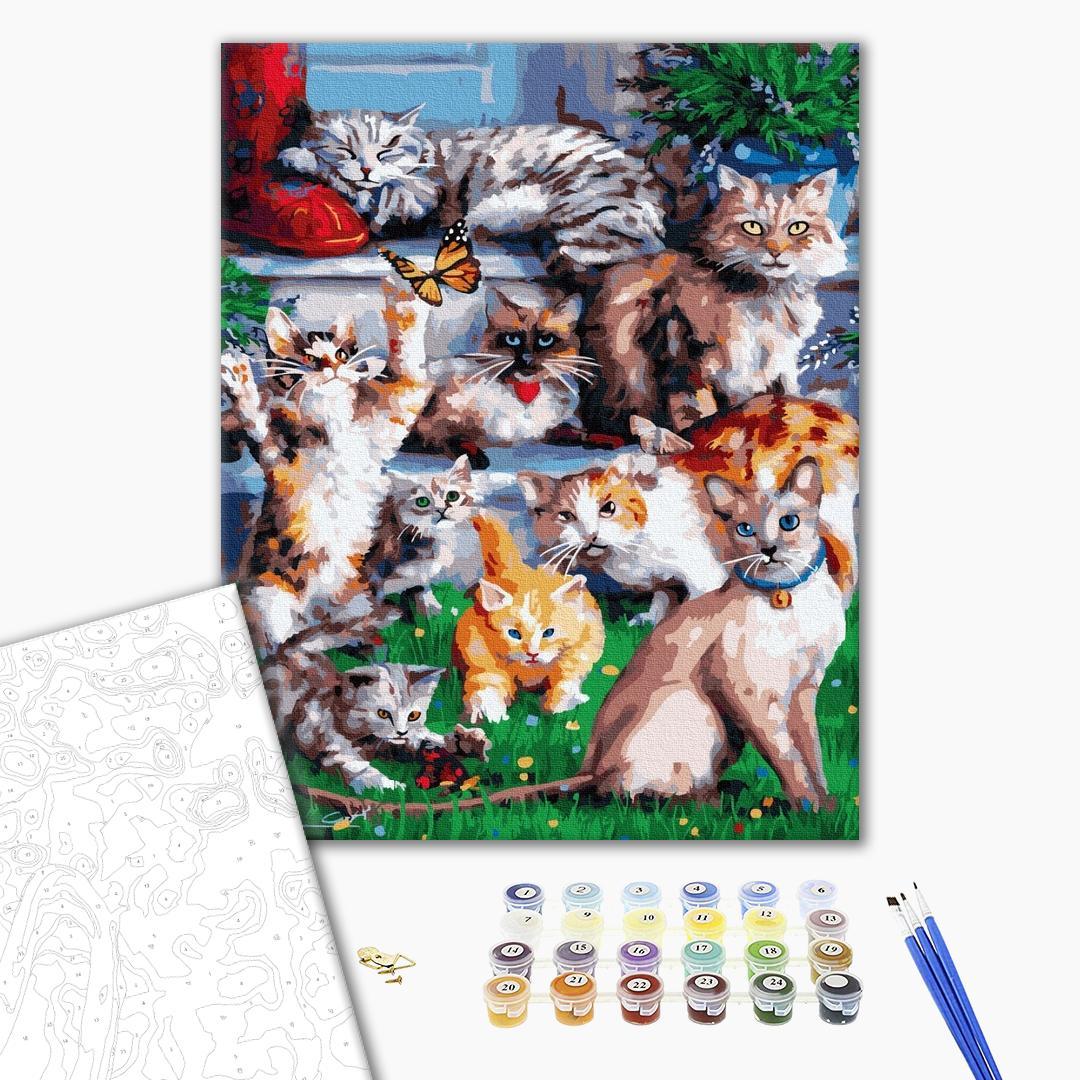 Картина по номерам Животные, птицы и рыбы - Домашні котики