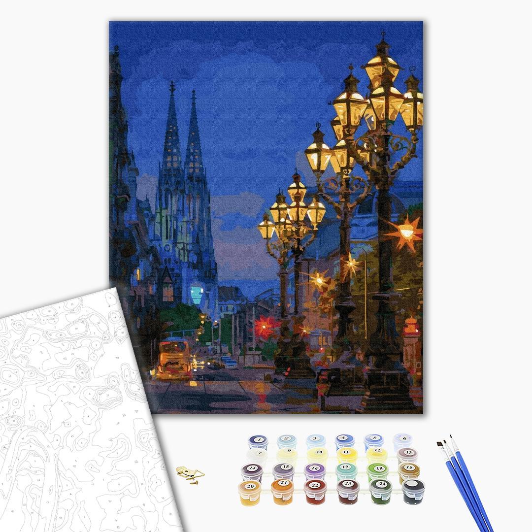 Картина по номерам Города - Вечірня вулиця