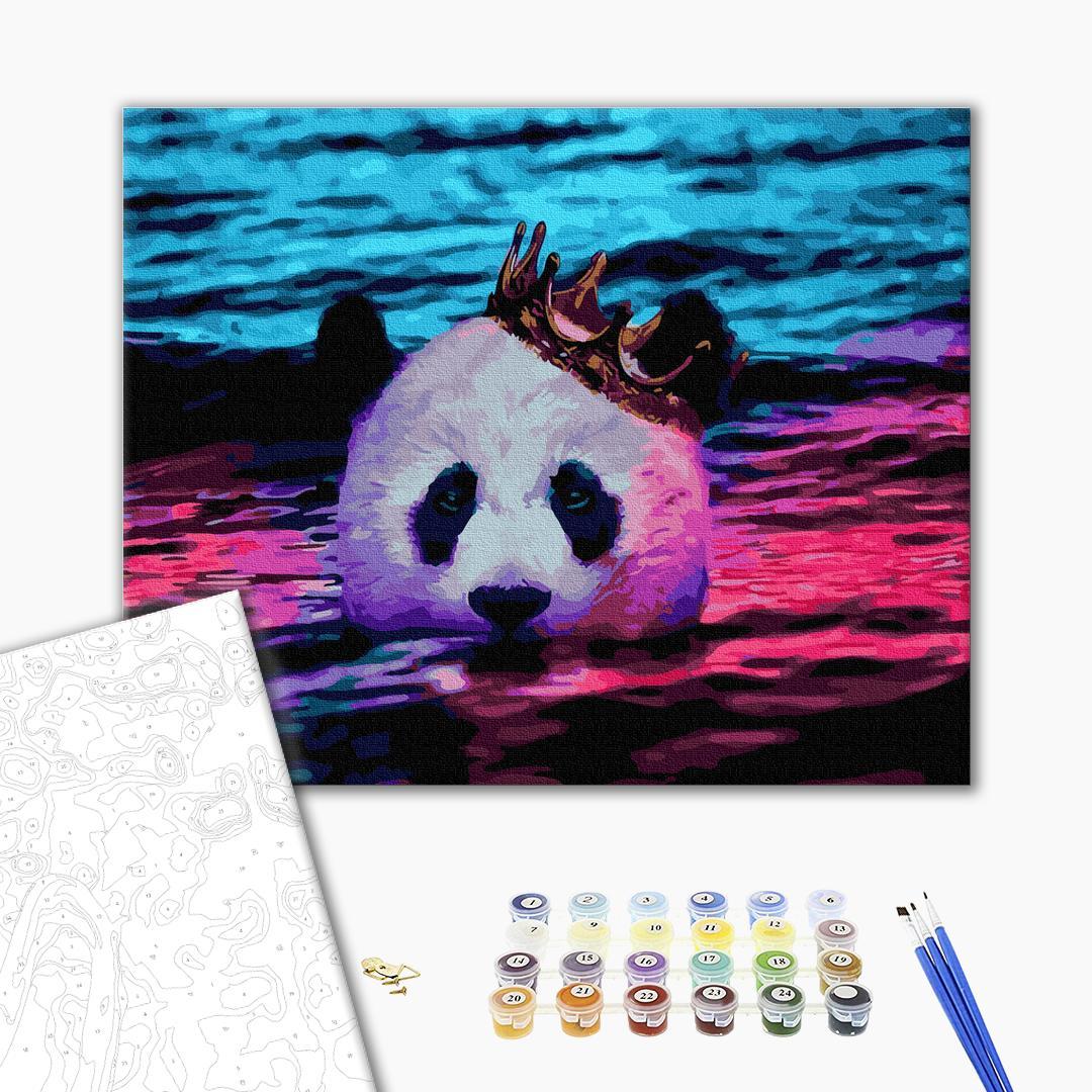 Картина по номерам Животные, птицы и рыбы - Королівська панда