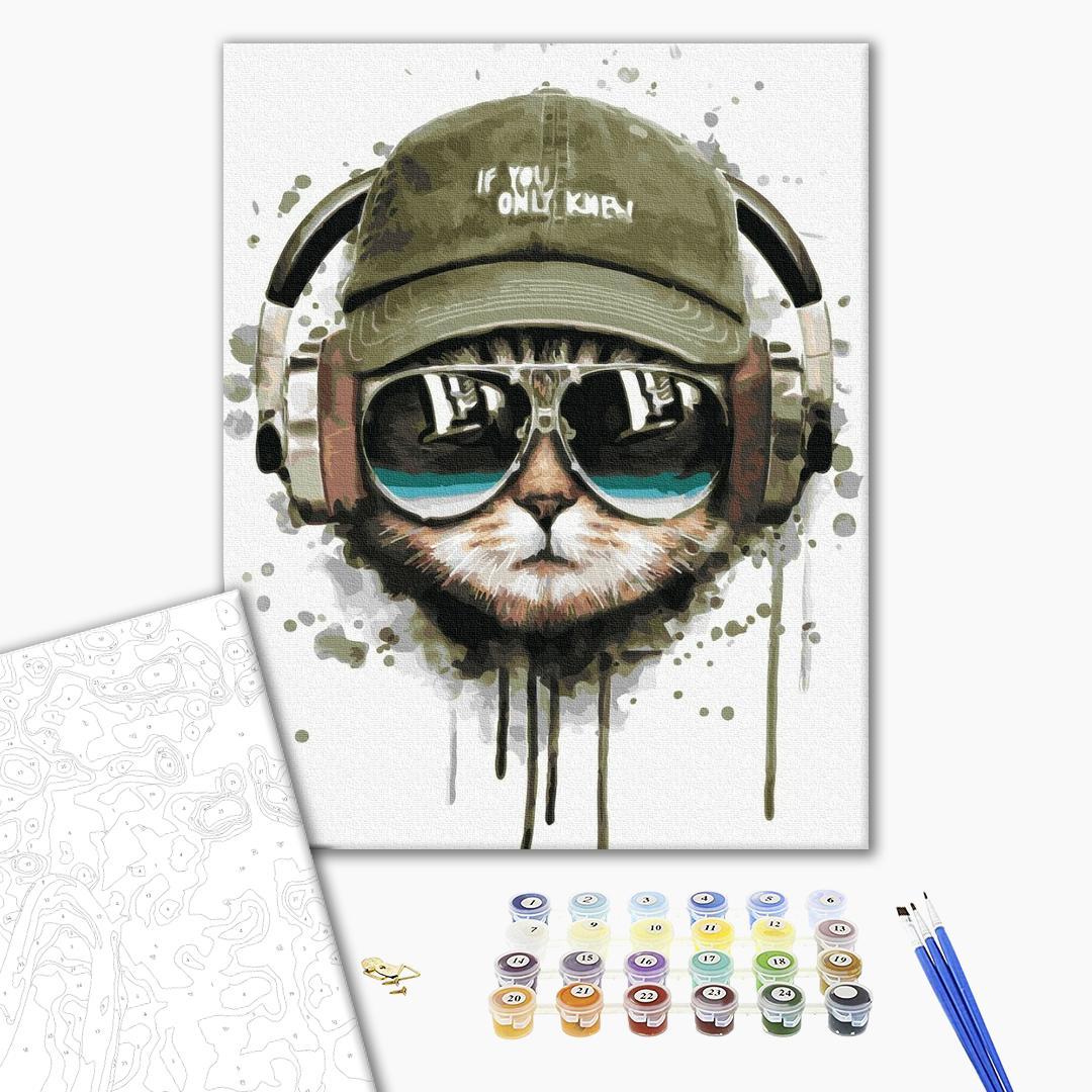 Картина по номерам Животные, птицы и рыбы - DJ Кот