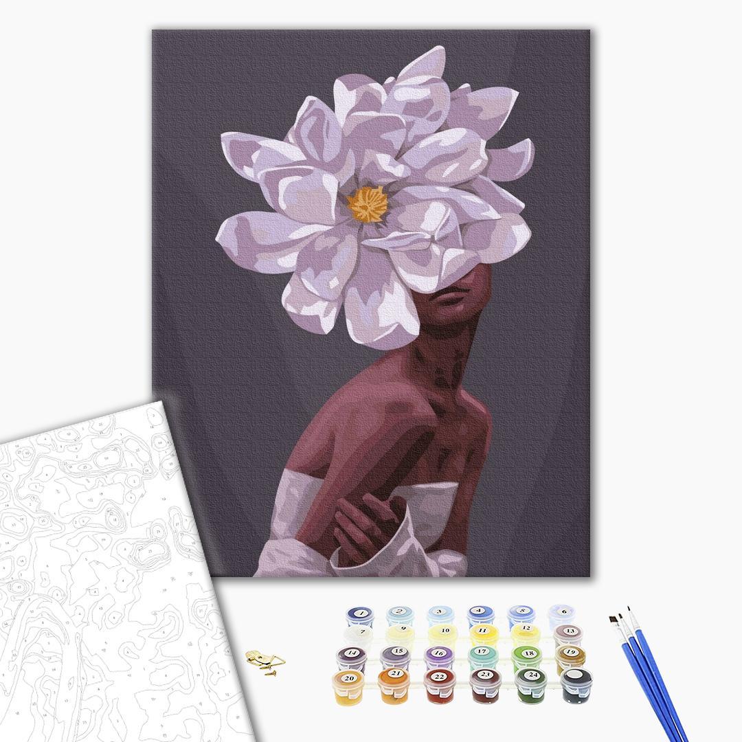 Картина по номерам Уникальные сюжеты - В обіймах квітів