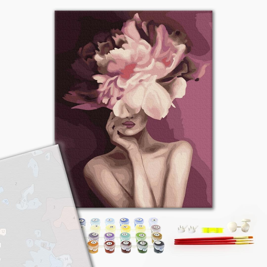 Картина по номерам ПРЕМИУМ картины - Пурпурний цветок