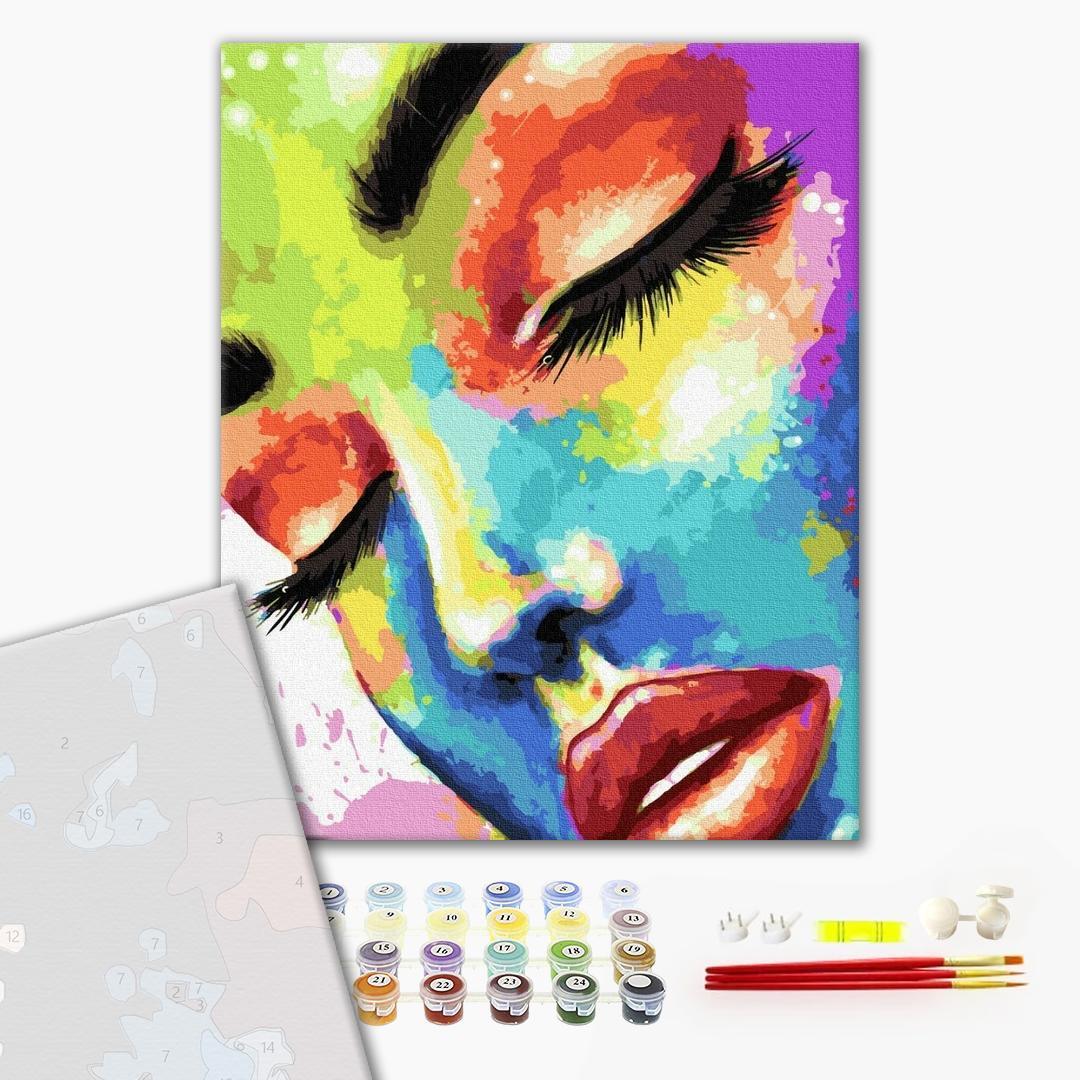 Картина по номерам ПРЕМИУМ картины - Женщина в красках
