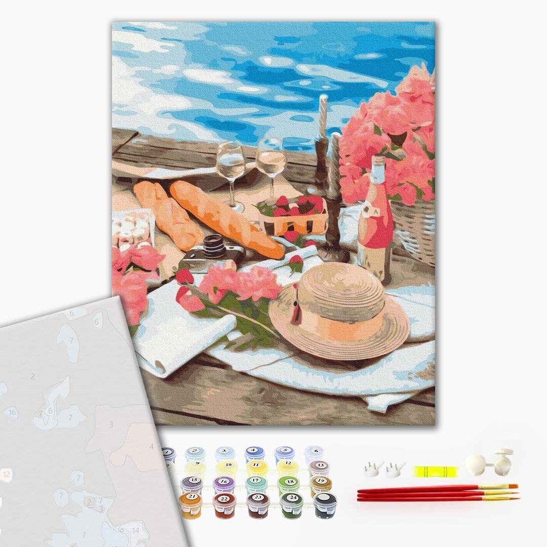 Картина по номерам ПРЕМИУМ картины - Пикник рядом с морем