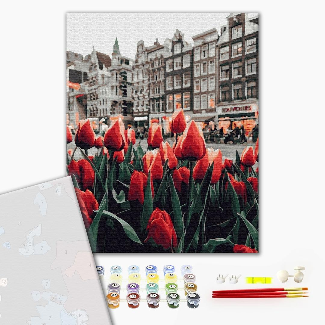 Картина по номерам ПРЕМИУМ картины - Тюльпани Амстердаму