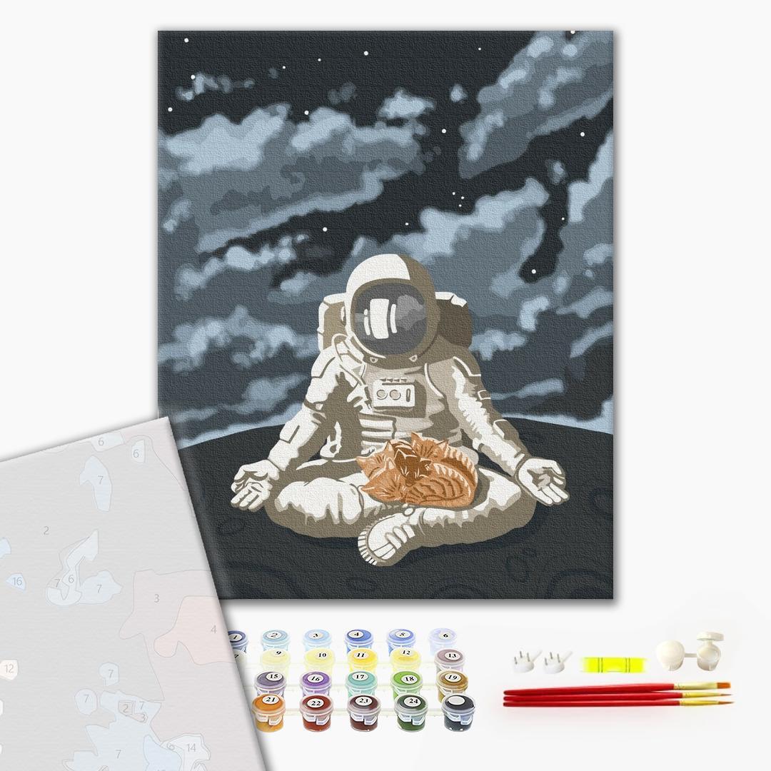 Картина по номерам ПРЕМИУМ картины - Космічний спокій