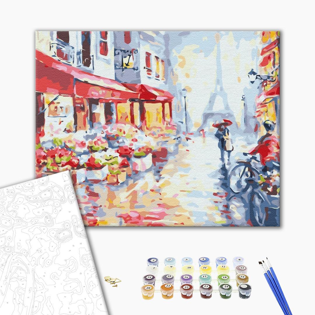 Картина по номерам Города - Цветочная улица в Париже
