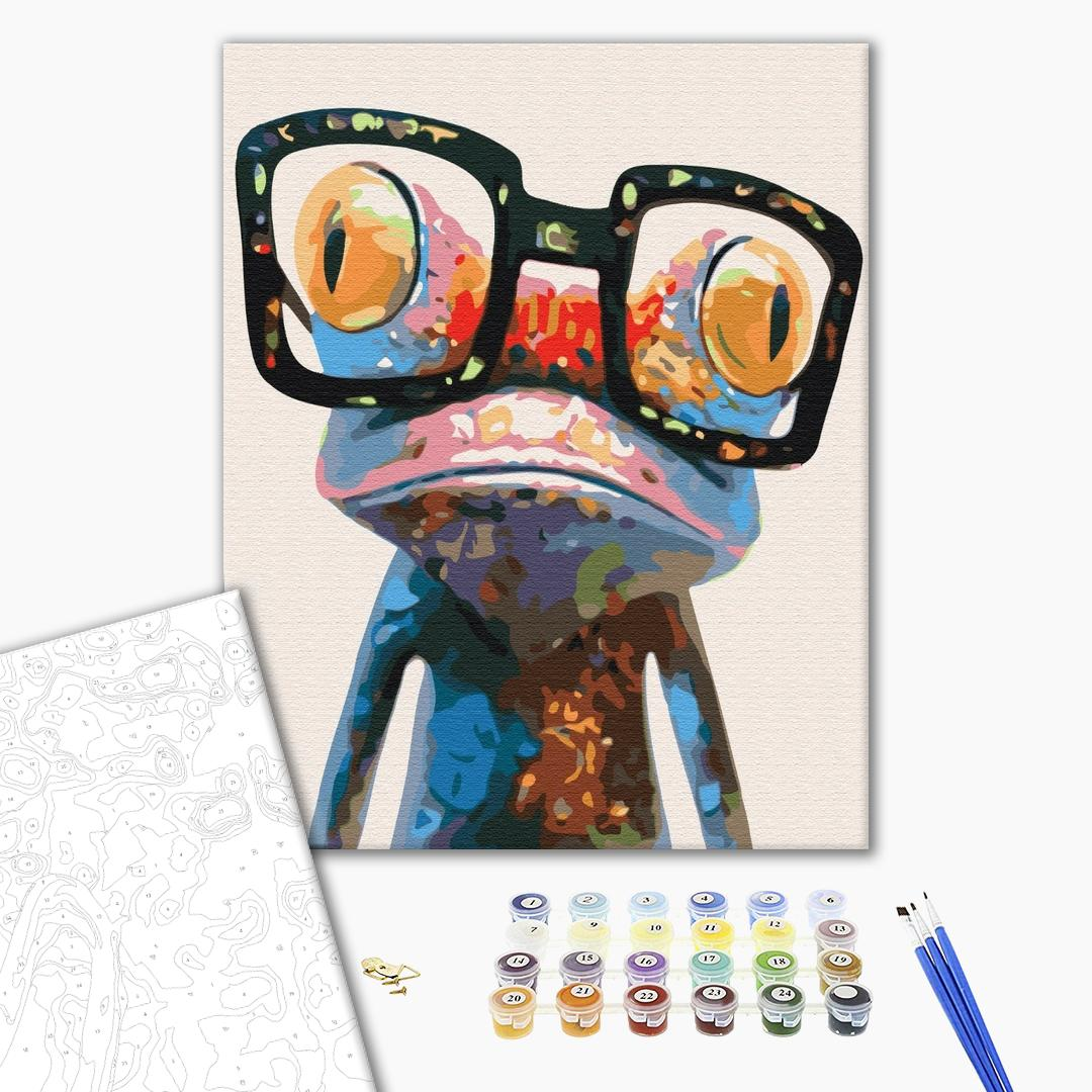 Картина по номерам Для начинающих - Жабка в окулярах