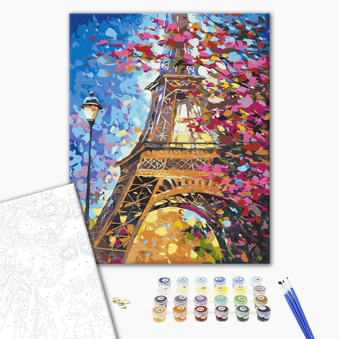 Картина по номерам Города - Паризький пейзаж