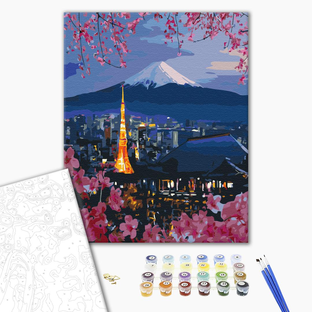 Картина по номерам Города - Подорож по Японії