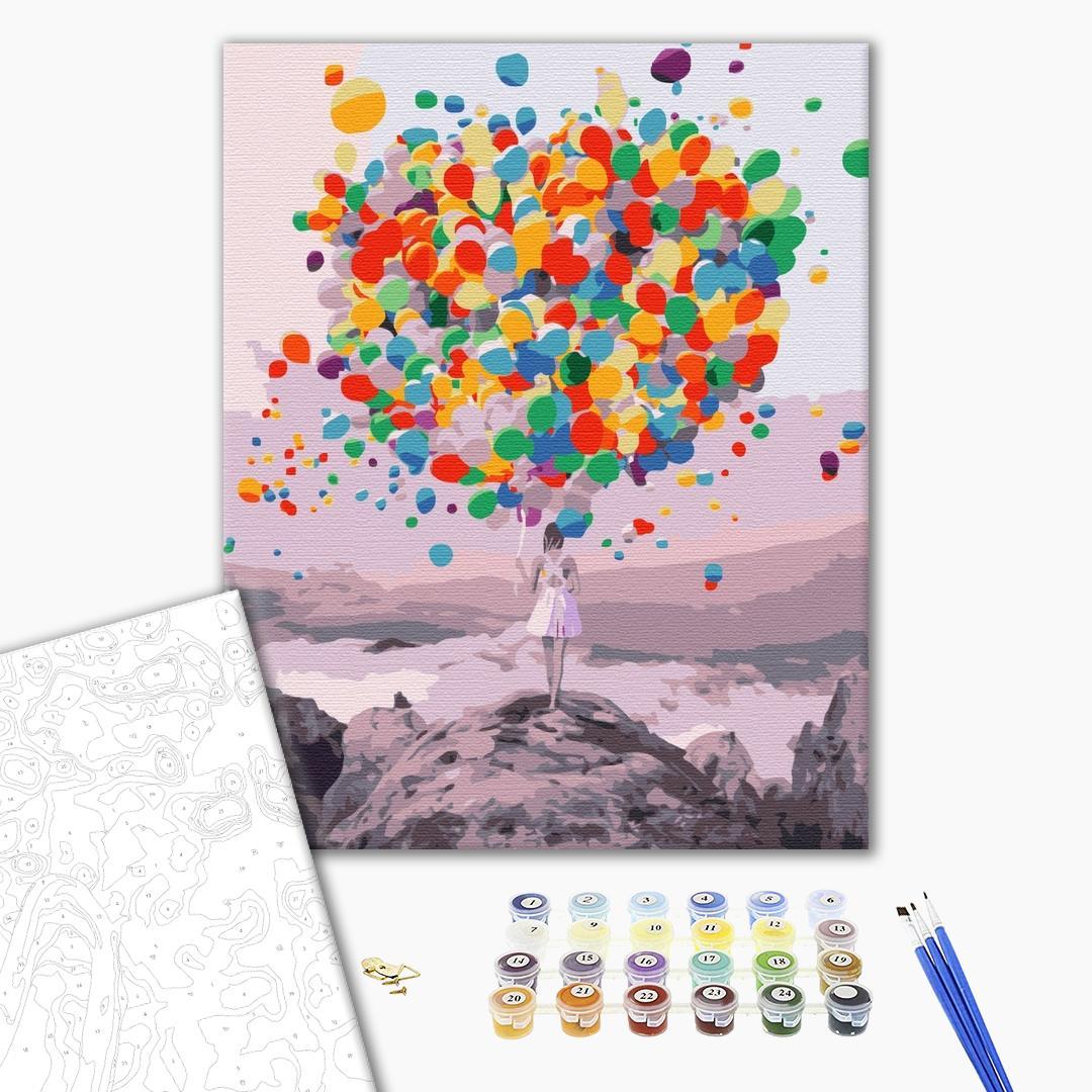 Картина по номерам Авторские коллекции - Яркие шарики