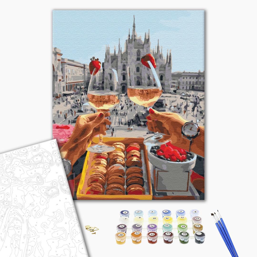 Картина по номерам Авторские коллекции - Завтрак в Милане