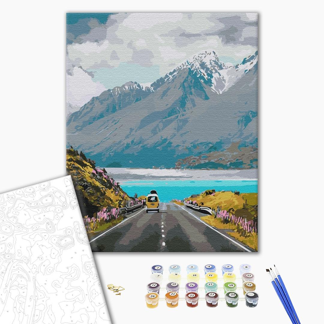 Картина по номерам Пейзажи - Мандрівка в гори