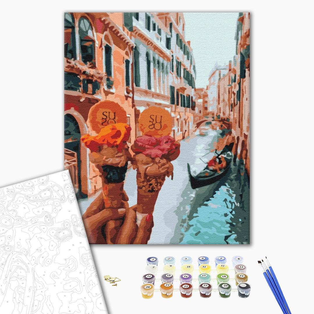 Картина по номерам Уникальные сюжеты - Джелато в Венеции