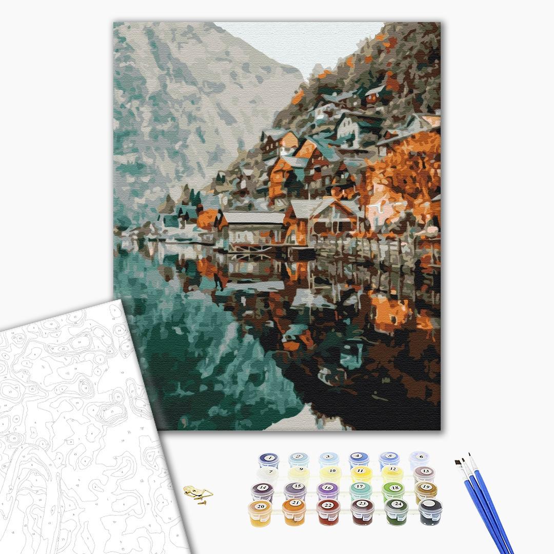 Картина по номерам Уникальные сюжеты - Пейзаж на Гельштат