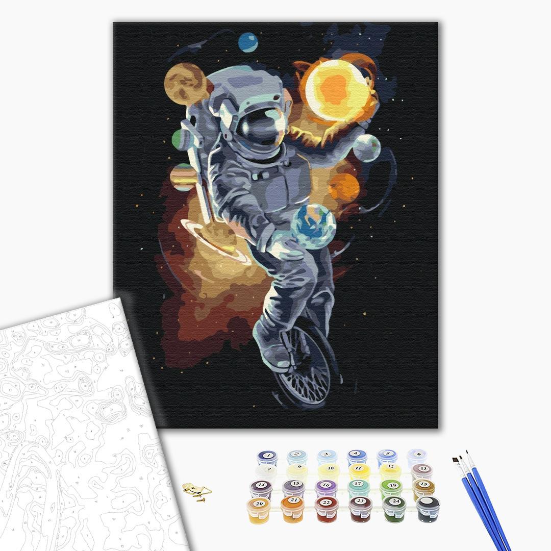 Картина по номерам Космос - Космічний жонглер
