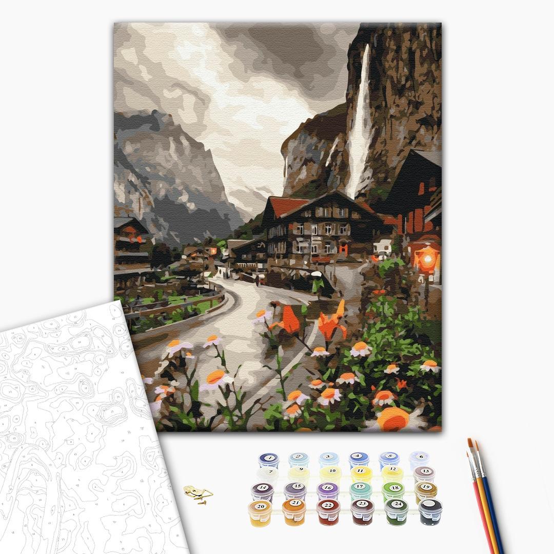 Картина по номерам Пейзажи - Містечко в Швейцарії