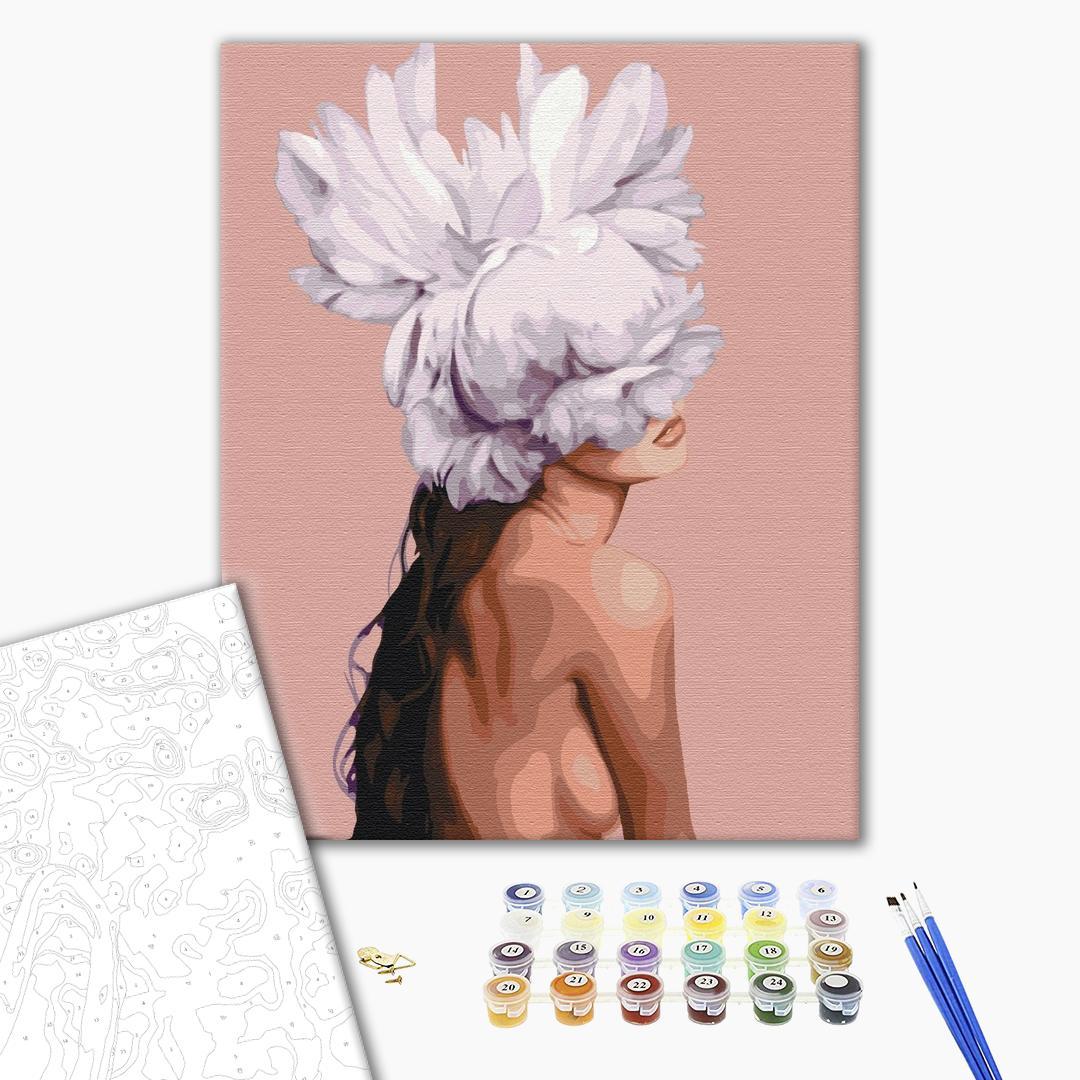 Картина по номерам Люди на картинах - Она - цветок