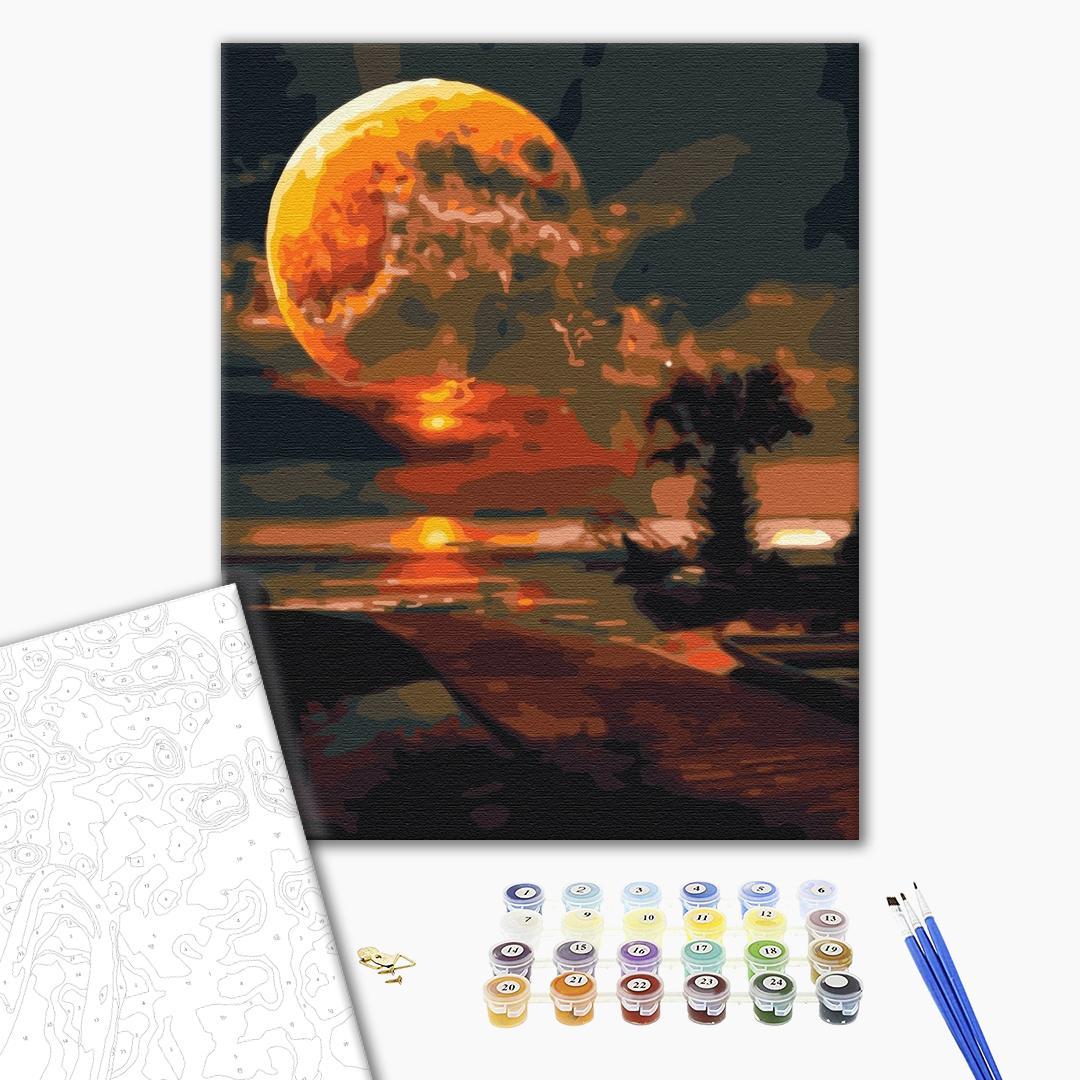Картина по номерам Природа - Фантастичний захід сонця