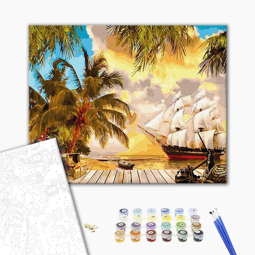 Картина по номерам Пейзажи - Тропічний берег
