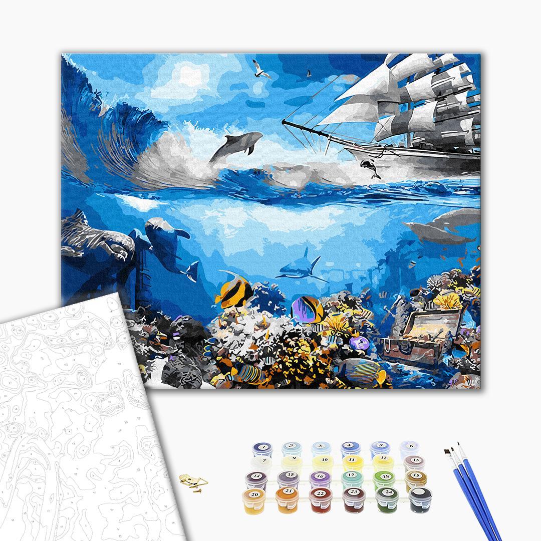 Картина по номерам Природа - Водний світ