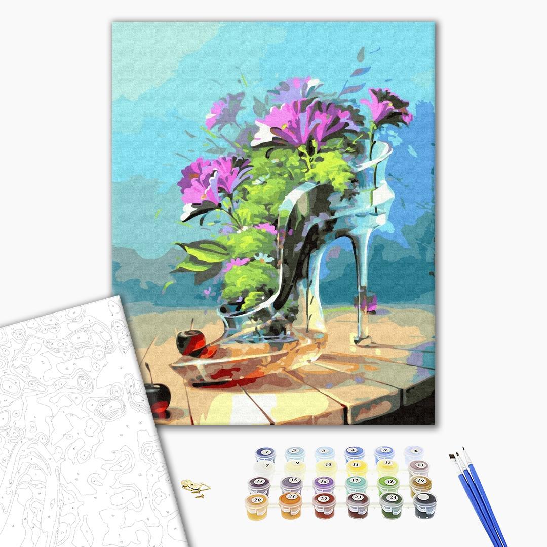 Картина по номерам Цветы - Хрустальная туфелька