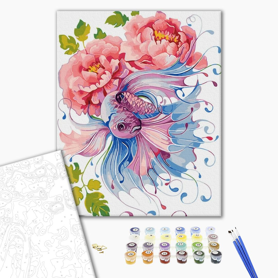 Картина по номерам Уникальные сюжеты - Фантазийные цветы