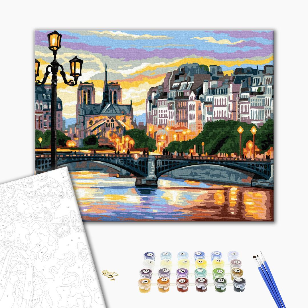 Картина по номерам Города - Вечірній міст