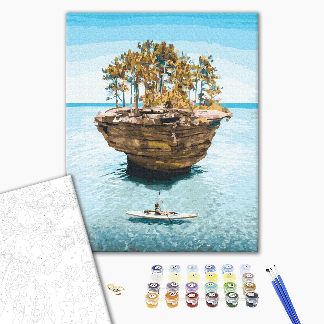 Картина по номерам Природа - Острів усамітнення
