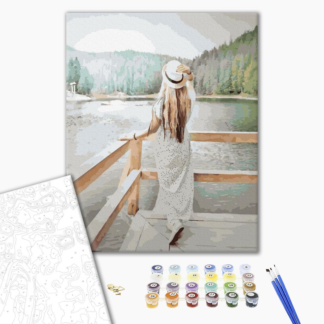 Картина по номерам Люди на картинах - Леді на літній прогулянці