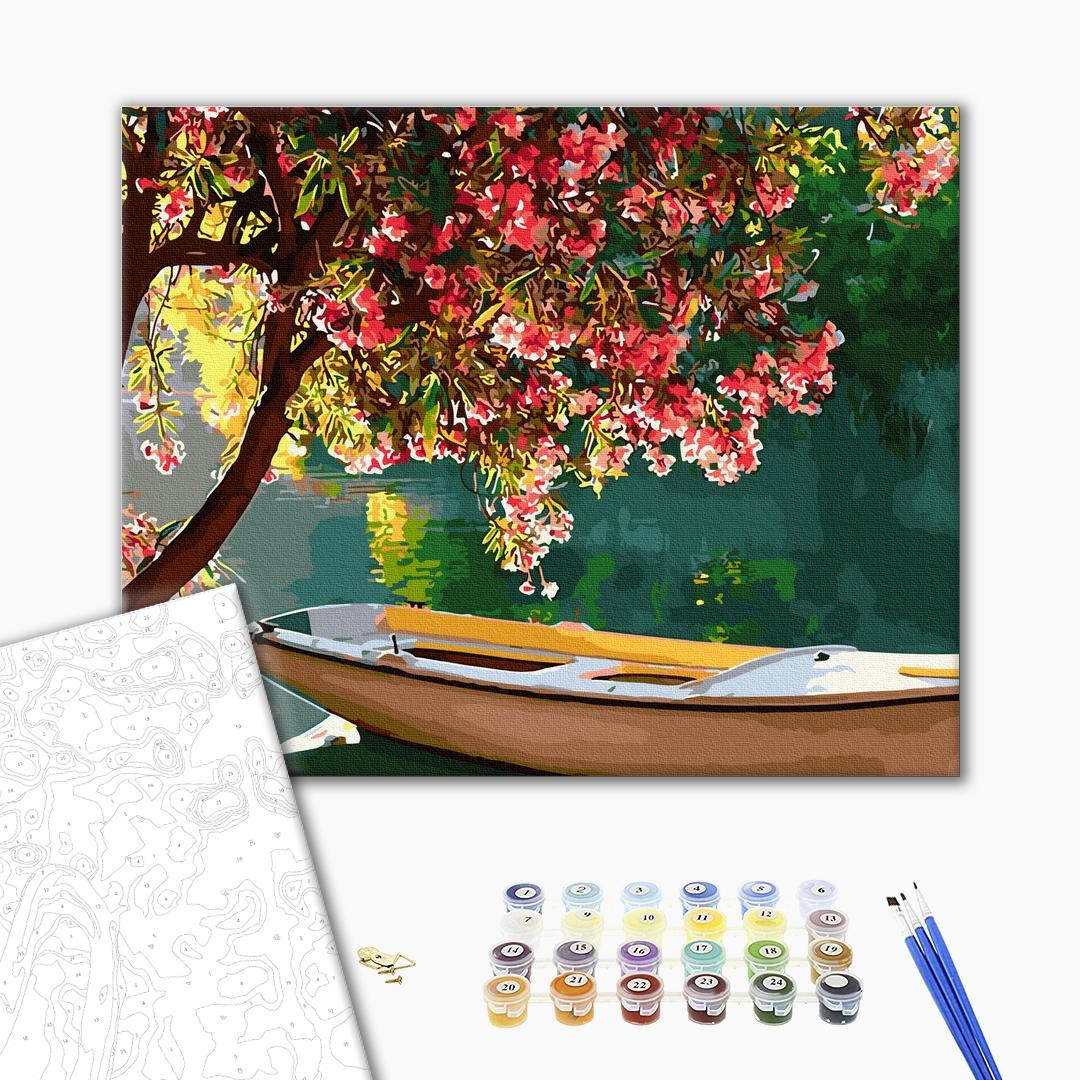 Картина по номерам Пейзажи - Цветущий берег