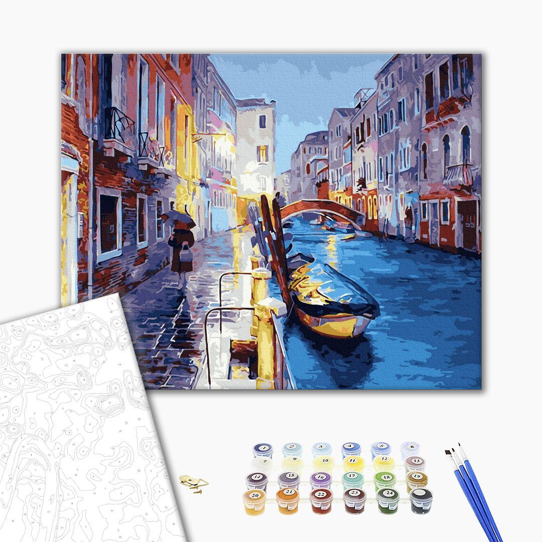 Картина по номерам Города - Вечірній канал Венеції