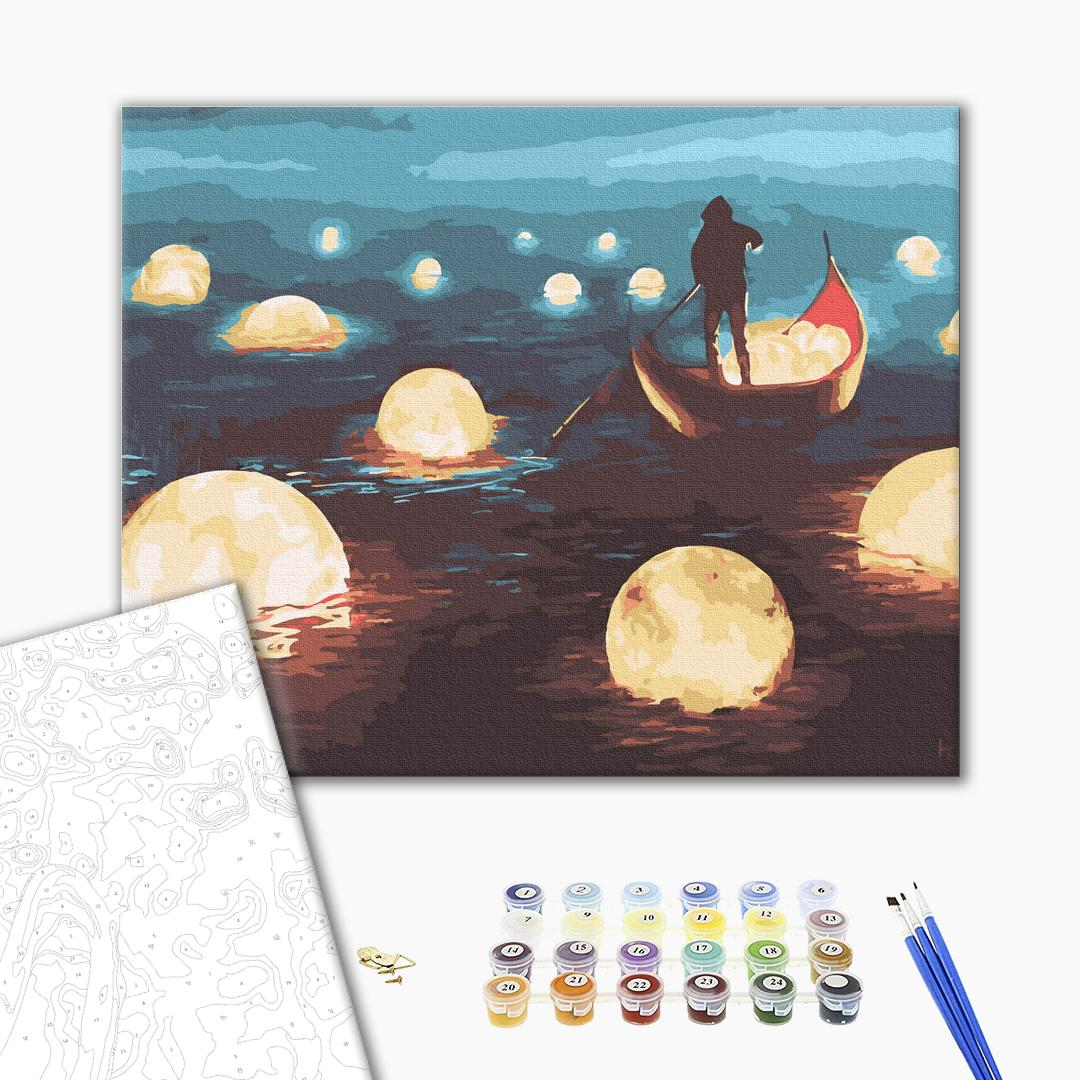 Картина по номерам Природа - Місячна прогулянка
