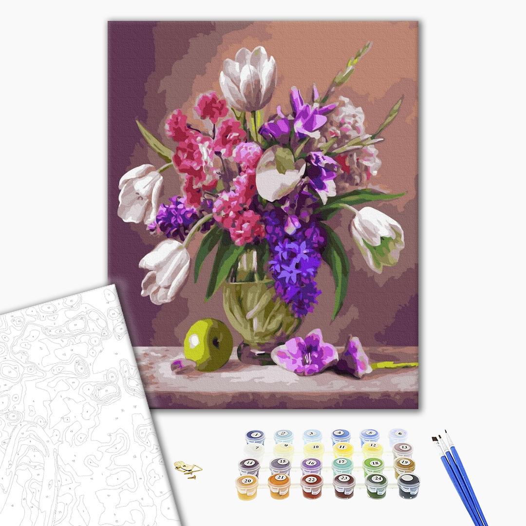 Картина по номерам Цветы - Квіткова композиція