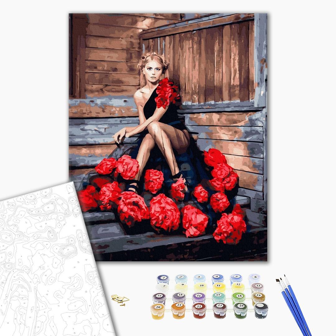 Картина по номерам Люди на картинах - Кармен в розах