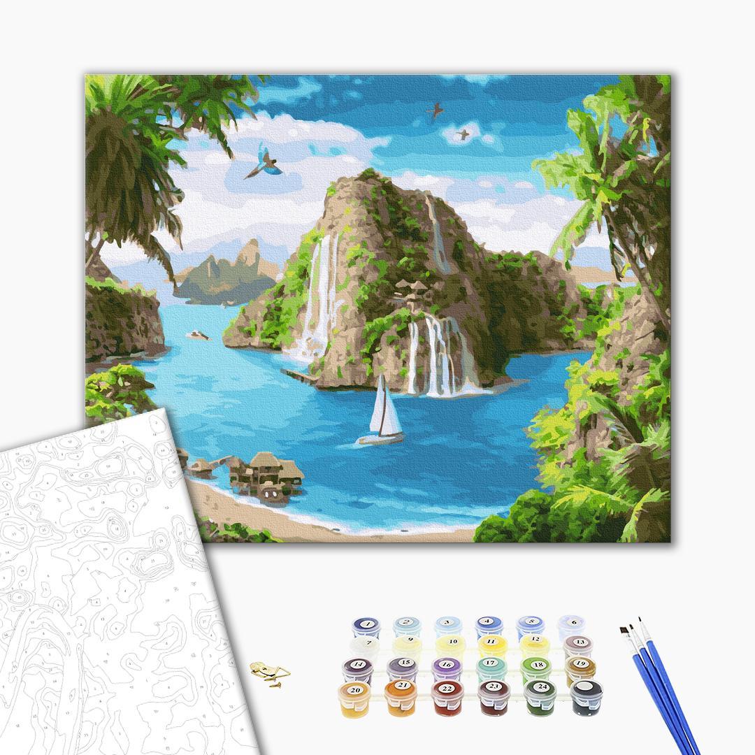 Картина по номерам Природа - Тропическая гавань