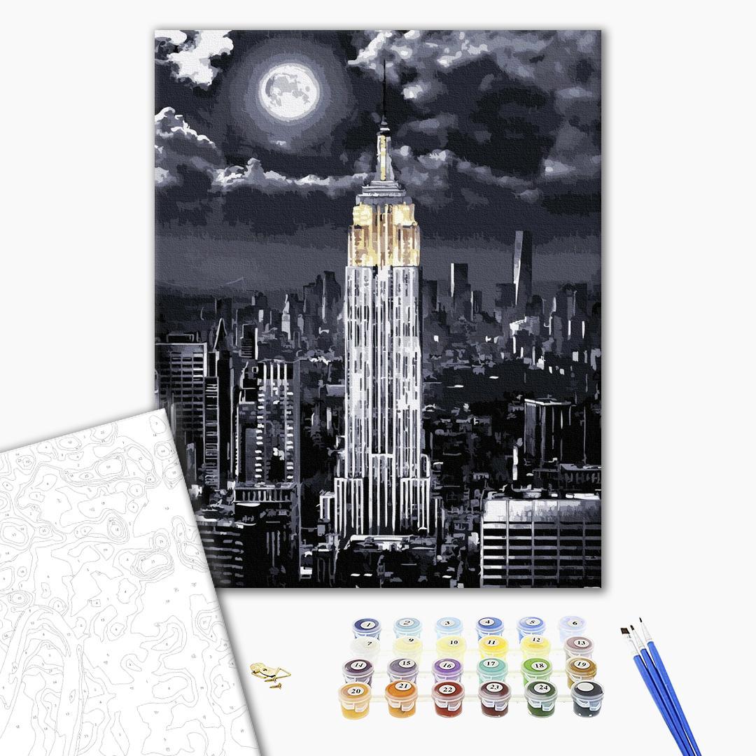Картина по номерам Города - Ночной бизнес-центр