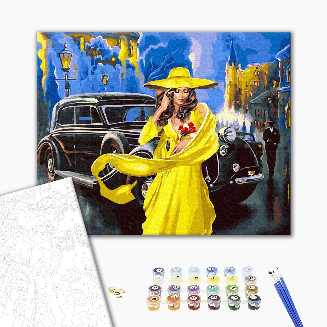 Картина по номерам Люди на картинах - Дама в жовтому