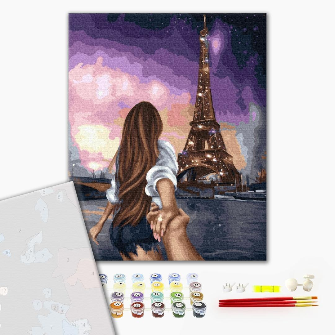 Картина по номерам ПРЕМИУМ картины - Скажи Парижу
