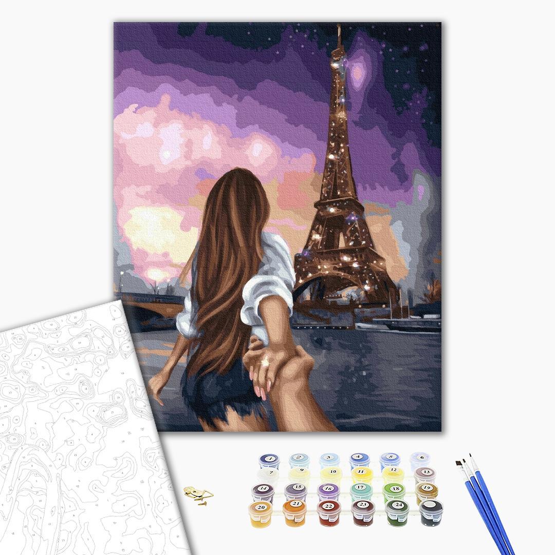 Картина по номерам Уникальные сюжеты - Скажи Парижу Да!