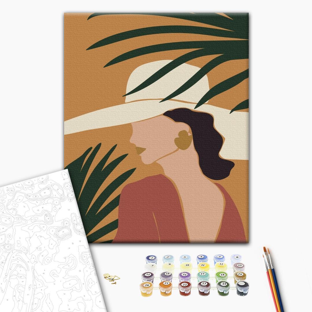 Картина по номерам Авторские коллекции - Пастельные тропики: триптих 3