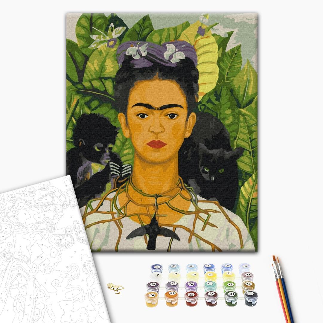 Картина по номерам Репродукции художников - Фрида Кало. Автопортрет