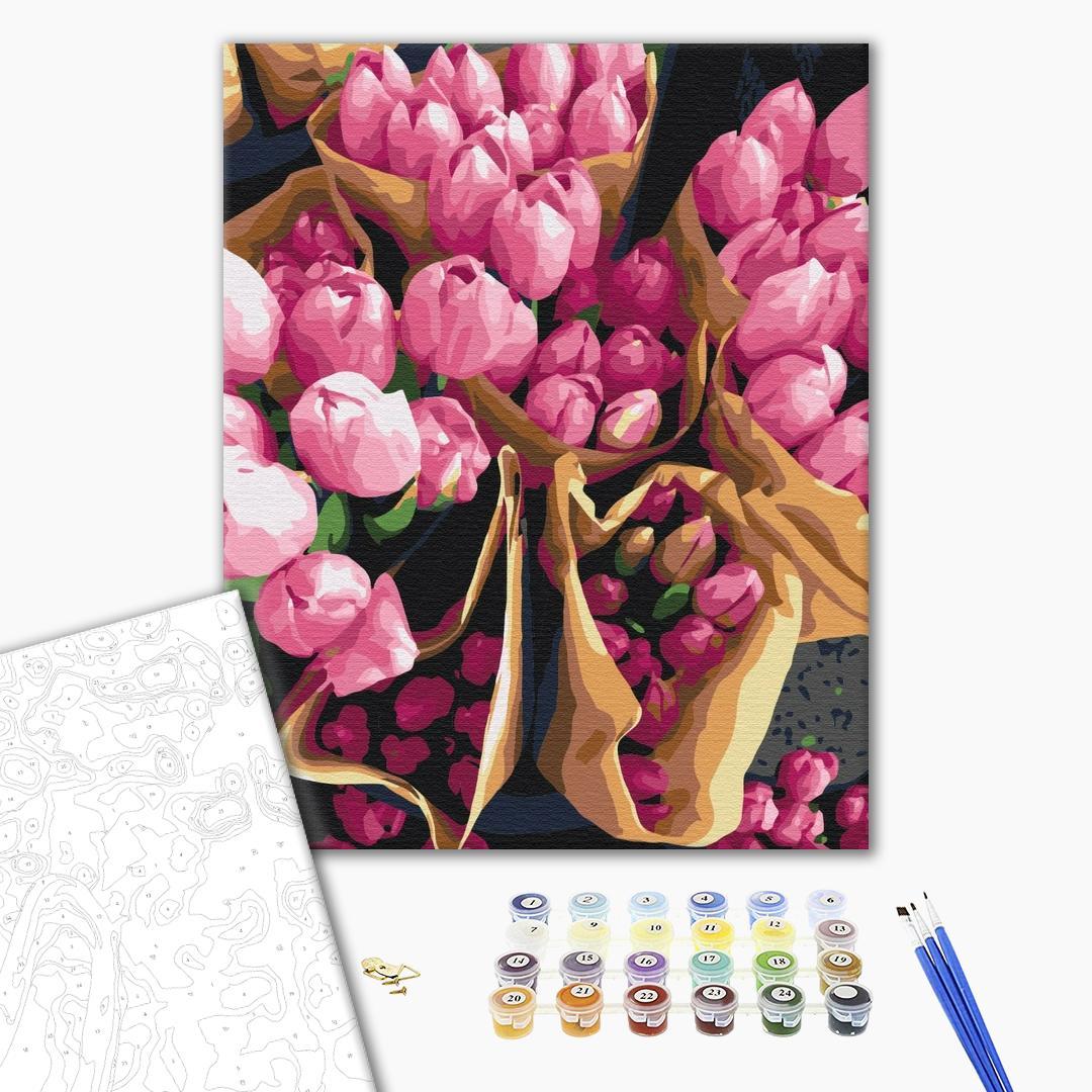 Картина по номерам Цветы - Голландские тюльпаны